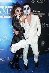2017 MAXIM Halloween Party held at Los Angeles Center Studios on October 21, 2017 in Los Angeles, California. 21 Oct 2017 Pictured: Jenna Johnson, Val Chmerkovskiy, Valentin Chmerkovskiy. Photo credit: IPA/MEGA TheMegaAgency.com +1 888 505 6342