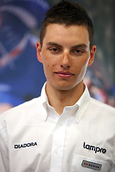 Rider of Cycling team Lampre Simon Spilak at introduction of cycling team Adria Mobil 2008, on April 9, 2008, Ljubljana, Slovenia. (Photo by Vid Ponikvar / Sportal Images)/ Sportida)