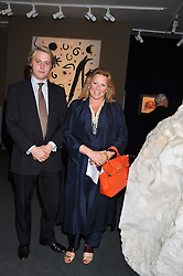 VISCOUNTESS GORMANSTON and her son HARRY GRENFELL at a 2nd private view of the Pavilion of Art & Design London 2011 held in Berkeley Square, London on 11th October 2011.