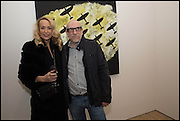 JERRY HALL; BRIAN CLARKE; , Spitfires and Primroses, an exhibition of new work by Brian Clarke on Thursday 12 February 2015 at Pace London, 6-10 Lexington Street, London. 12 February 2015