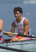 Banyoles, SPAIN, GBR W8+,  Fiona FRECKLETON,  1992 Olympic Regatta, Lake Banyoles, Barcelona, SPAIN. 92 Gold Medalist.   [Mandatory Credit: Peter Spurrier: Intersport Images]