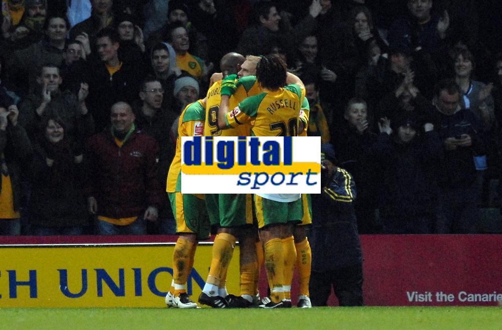 Photo: Ashley Pickering/Sportsbeat Images.<br /> Norwich City v Coventry City. Coca Cola Championship. 24/11/2007.<br /> Norwich celebrate Luke Chadwick's opener