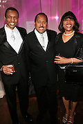"""Bobby, Frank Ski and Velma Clarke at The Ludacris Foundation 5th Annual Benefit Dinner & Casino Night sponsored by Alize, held at The Foundry at Puritan Mill in Atlanta, Ga on May 15, 2008.. Chris """"Ludacris"""" Bridges, William Engram and Chaka Zulu were the inspiration for the development of The Ludacris Foundation (TLF). The foundation is based on the principles Ludacris learned at an early age: self-esteem, spirituality, communication, education, leadership, goal setting, physical activity and community service. Officially established in December of 2001, The Ludacris Foundation was created to make a difference in the lives of youth. These men have illustrated their deep-rooted tradition of community service, which has broadened with their celebrity status. The Ludacris Foundation is committed to helping youth help themselves."""