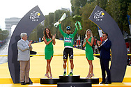 Podium, Hotess, Miss, Peter Sagan (SVK - Bora - Hansgrohe) Green Jersey during the 105th Tour de France 2018, Stage 21, Houilles - Paris Champs-Elysees (115 km) on July 29th, 2018 - Photo Luca Bettini / BettiniPhoto / ProSportsImages / DPPI