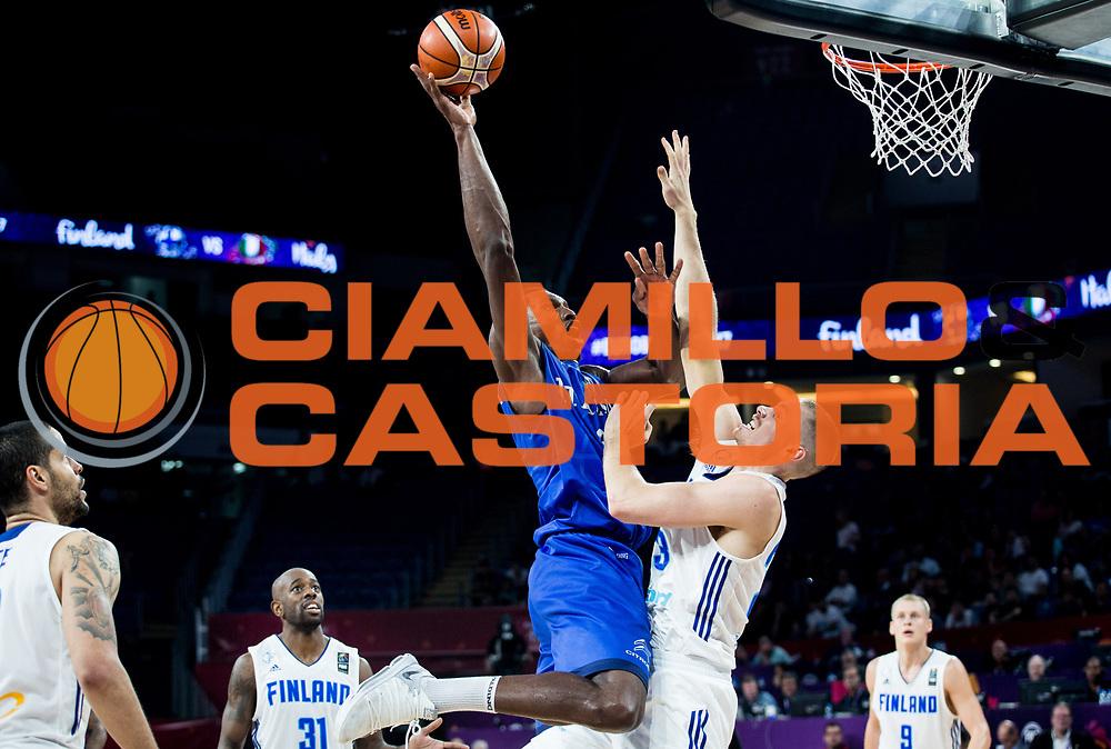 Paul Biligha<br /> Nazionale Italiana Maschile Senior<br /> Eurobasket 2017 - Final Phase - Round of 16<br /> Finlandia Italia Finland Italy<br /> FIP 2017<br /> Istanbul, 09/09/2017<br /> Foto GiulioCiamillo / Ciamillo - Castoria
