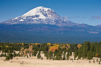 Mount Adams viewed from the south and the Gifford Pinchot NF from Klickitat County, WA, USA in autumn