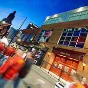 Kansas City's Power and Light District during the 2015 NCAA Big 12 Basketball Tournament