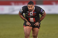 Pauli Pauli (12) of Salford Red Devils during the game
