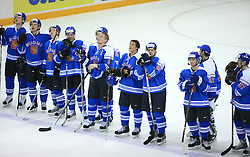 Team Finland at ice-hockey match Norway vs Finland at Preliminary Round (group C) of IIHF WC 2008 in Halifax, on May 05, 2008 in Metro Center, Halifax, Nova Scotia, Canada. (Photo by Vid Ponikvar / Sportal Images)