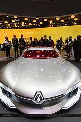 World premiere of Renault Trezor concept electric supercar at Paris Motor Show 2016