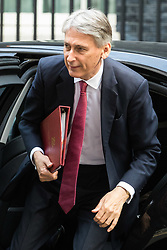 London, June 20th 2017. Chancellor of the Exchequer Philip Hammond attends the weekly cabinet meeting at 10 Downing Street in London.