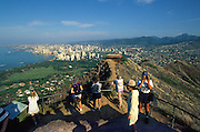 Summit of Diamond Head, Waikiki, Oahu, Hawaii<br />