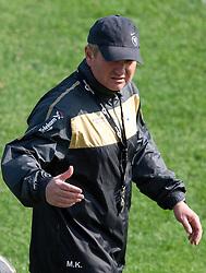 Matjaz Kek, head coach of Slovenia during a training session at  Hyde Park High School Stadium on June 10, 2010 in Johannesburg, South Africa.  (Photo by Vid Ponikvar / Sportida)