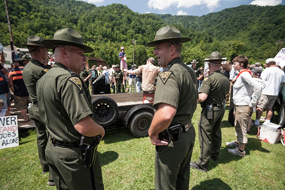 West Virginia State Police monitor Marsh Fork Protest