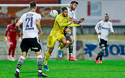 Dario Kolobaric of Domzale vs Ivica Guberac of Koper during football match between NK Domzale and NK Koper in 34th Round of Prva liga Telekom Slovenije 2020/21, on May 16, 2021 in Sports park Domzale, Domzale, Slovenia. Photo by Vid Ponikvar / Sportida