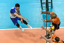 02-01-2020 SLO: Slovenia - Netherlands, Maribor<br /> Klemen Cebulj of Slovenia, Nimir Abdelaziz #14 of Netherlands during friendly volleyball match between National Men teams of Slovenia and Netherlands