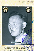 a 1960 identity portrait image of adult man on document Netherlands