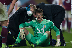 Nick Pope of Burnley goes through the concussion protocol after getting a knock of the head - Mandatory by-line: Jack Phillips/JMP - 23/11/2020 - FOOTBALL - Turf Moor - Burnley, England - Burnley v Crystal Palace - English Premier League