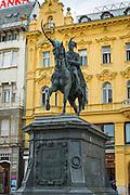 Josip Jelacic Statue in Jelacic Square, Zagreb, Croatia