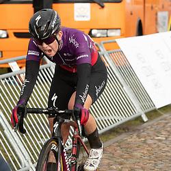 12-03-2021: Wielrennen: Healthy Ageing Tour: Wijster <br />Lonneke Uneken heeft de slotrit van de Healthy Ageng Tour gewonnen met een lange solo, nadat ze eerder al in een kopgroep van vijf had plaats genomen.