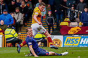 \mot32 comes close during the Ladbrokes Scottish Premiership match between Motherwell and Heart of Midlothian at Fir Park, Motherwell, Scotland on 17 February 2019.
