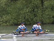 Lucerne, SWITZERLAND,  2016 FISA WCII, Women's Double Sculls, GRE W2X Bow Aikaterini Nikolaidou. Sofia Asoumanaki, , Sunday, 29/05/2016, <br /> [Mandatory Credit; Peter SPURRIER/Intersport-images]
