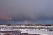 Regenboog boven de zee bij het Zuiderstrand, Den Haag   Rainbow over the sea at Zuiderstrand, The Hague.