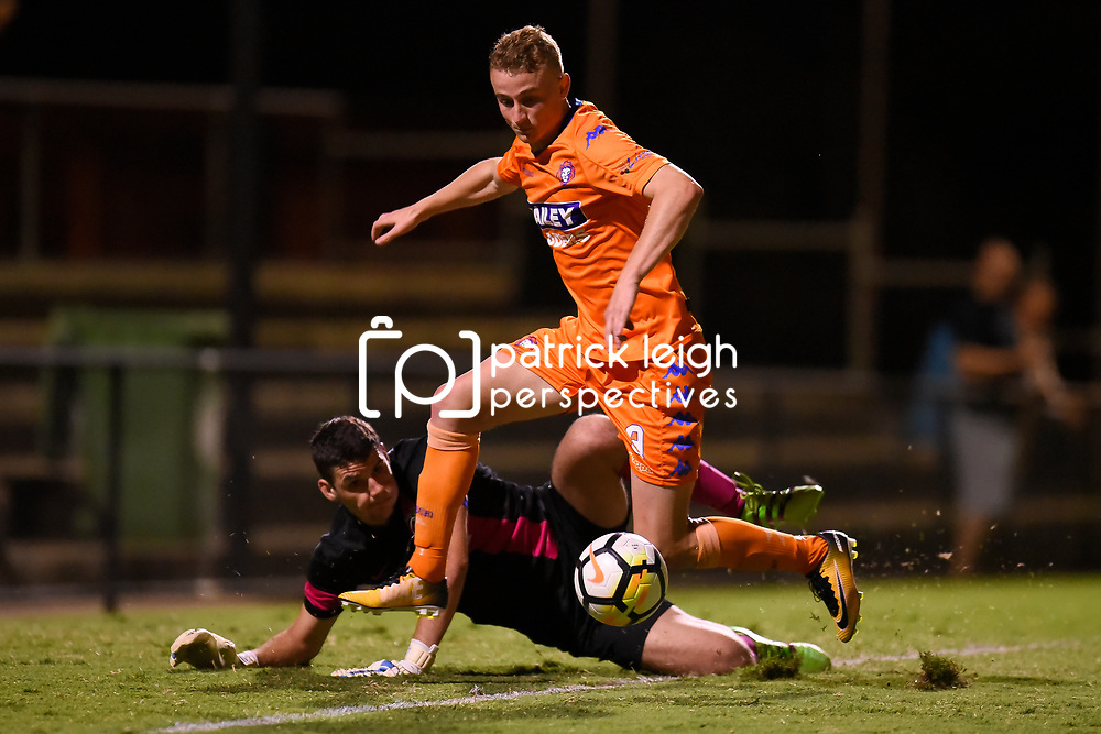 BRISBANE, AUSTRALIA - JANUARY 16:  during the Kappa Silver Boot Group D match between Lions FC and Ipswich Knights on January 16, 2018 in Brisbane, Australia. (Photo by Patrick Kearney)