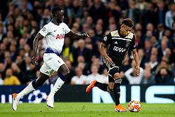 David Neres of Ajax takes on Davinson Sanchez of Tottenham Hotspur - Mandatory by-line: Robbie Stephenson/JMP - 30/04/2019 - FOOTBALL - Tottenham Hotspur Stadium - London, England - Tottenham Hotspur v Ajax - UEFA Champions League Semi-Final 1st Leg