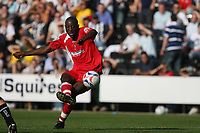 Photo: Pete Lorence.<br />Notts County v Swindon Town. Coca Cola League 2. 23/09/2006.<br />Swindon's Fola Onibuje sends the ball in on goal but to no avail.