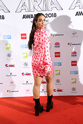The annual Australian Record Industry Awards celebrate the best in music, held at The Star, Pyrmont, Sydney, Australia. 28 Nov 2018 Pictured: Cartia Mallan. Photo credit: Richard Milnes / MEGA TheMegaAgency.com +1 888 505 6342