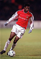 Lauren (Arsenal). Shakhtar Donetsk 3:0 Arsenal, UEFA Champions League, Group B, Centralny Stadium, Donetsk, Ukraine, 7/11/2000. Credit Colorsport / Stuart MacFarlane.