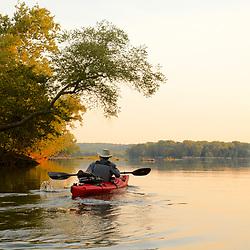 Paddling the Potomac near Riverbed Park