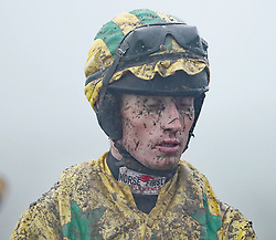 Jockey John Barry after The Goffs Land Rover Bumper during day one of the Punchestown Festival at Punchestown Racecourse, County Kildare, Ireland.