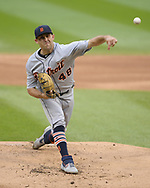 CHICAGO - SEPTEMBER 28:  Matthew Boyd #48 of the Detroit Tigers pitches against the Chicago White Sox during the first game of a double header on September 28, 2019 at Guaranteed Rate Field in Chicago, Illinois.  (Photo by Ron Vesely)  Subject:   Matthew Boyd