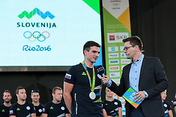 Peter Kauer and Sasa Jerkovic during reception of Slovenian Olympic Team at BTC City when they came back from Rio de Janeiro after Summer Olympic games 2016, on August 26, 2016 in Ljubljana, Slovenia. Photo by Matic Klansek Velej / Sportida