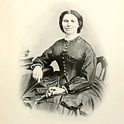 Clara Barton A wartime photograph by Brady [Clarissa Harlowe Barton (December 25, 1821 – April 12, 1912) was an American nurse who founded the American Red Cross. She was a hospital nurse in the American Civil War, a teacher, and a patent clerk. Since nursing education was not then very formalized and she did not attend nursing school, she provided self-taught nursing care. Barton is noteworthy for doing humanitarian work and civil rights advocacy at a time before women had the right to vote. She was inducted into the National Women's Hall of Fame in 1973] from the book ' The Civil war through the camera ' hundreds of vivid photographs actually taken in Civil war times, sixteen reproductions in color of famous war paintings. The new text history by Henry W. Elson. A. complete illustrated history of the Civil war
