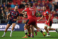 Rugby Union - 2021 / 2022 Gallagher Premiership - Round One - Bristol vs Saracens - Ashton Gate - Friday 17th September 2021<br /> <br /> Saracens' Billy Vunipola accidentally hit by Marco Riccioni.<br /> <br /> COLORSPORT/Ashley Western