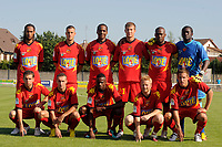 FOOTBALL - FRIENDLY GAMES 2010/2011 - BERRICHONNE CHATEAUROUX v LE MANS UC - 10/07/2010 - JEAN MARIE HERVIO / DPPI - TEAM LE MANS (BACK ROW LEFT TO RIGHT : JONATHAN BEHE / CYRIAQUE LOUVION / FREDERIC THOMAS / GUILLAUME LORIOT / JOAO PAULO / DIDIER OVONO . FRONT ROW : SAMUEL BOUHOURS / IDIL OUALI / ROLAND LAMAH / FREDRIK STROMSTAD / PIERRE GIBAUD )