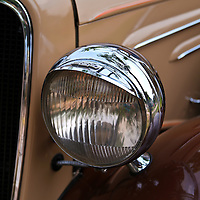 """""""1934 Chevrolet""""<br /> <br /> A beautiful headlight and left front detail from a 1934 Chevrolet.<br /> <br /> Cars and their Details by Rachel Cohen"""