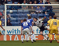 Photo: Leigh Quinnell.<br /> Leicester City v Preston North End. Coca Cola Championship. 15/04/2006. Jason Jarrett scores for Preston.
