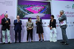 ALESSANDRA MARZARI E FRANCESCA PICCININI<br /> PRESENTAZIONE CAMPIONATO PALLAVOLO FEMMINILE SERIE A 2019-2020<br /> FOTO FILIPPO RUBIN / LVF