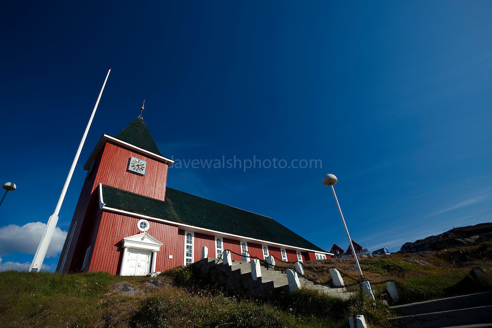 The 'new' church Sisimiut, built in 1926, in the second largest town in Greenland.