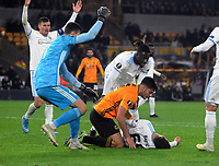 Football - 2019 / 2020 UEFA Europa League - Group K: Wolverhampton Wanderers vs. Slovan Bratislava<br /> <br /> Ruben Neves of Wolves rushes to the aid of Kenan Bejric after accidentally kicking him in the face  at Molineux.<br /> <br /> COLORSPORT/ANDREW COWIE