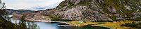 Norway, Trondelag. Simavik, a roadless location in Stokksund. Stitched panorama.