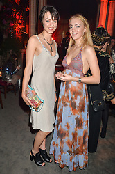 Left to right, sisters ALEXANDRA MONCRIEFFE and LILY MONCRIEFFE at the Tatler Magazine's Kings & Queens party held at Savini at Criterion, Piccadilly, London on 1st June 2016.