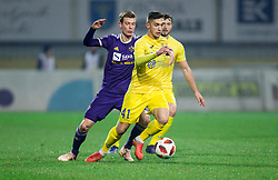 Aleks Pihler of NK Maribor vs Adam Gnezda Cerin of NK Domzale during football match between NK Domzale and NK Maribior in 18th Round of Prva liga Telekom Slovenije 2018/19, on November 11, 2018 in Sportni Park, Domzale, Slovenia. Photo by Vid Ponikvar / Sportida