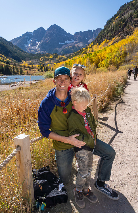 Visit to Maroon Bells during fall color with Brian Barker and children.