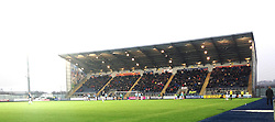 South Stand.<br /> Falkirk 2 v 0 Dundee, Scottish Championship game at The Falkirk Stadium.<br /> © Michael Schofield.