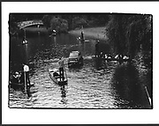 Scene on the river during Trinity College & Clare May Ball. Cambridge. 10 June 1985,
